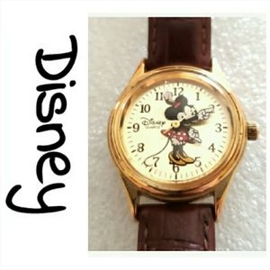 Vintage Disney Time Works watch Minni Mouse